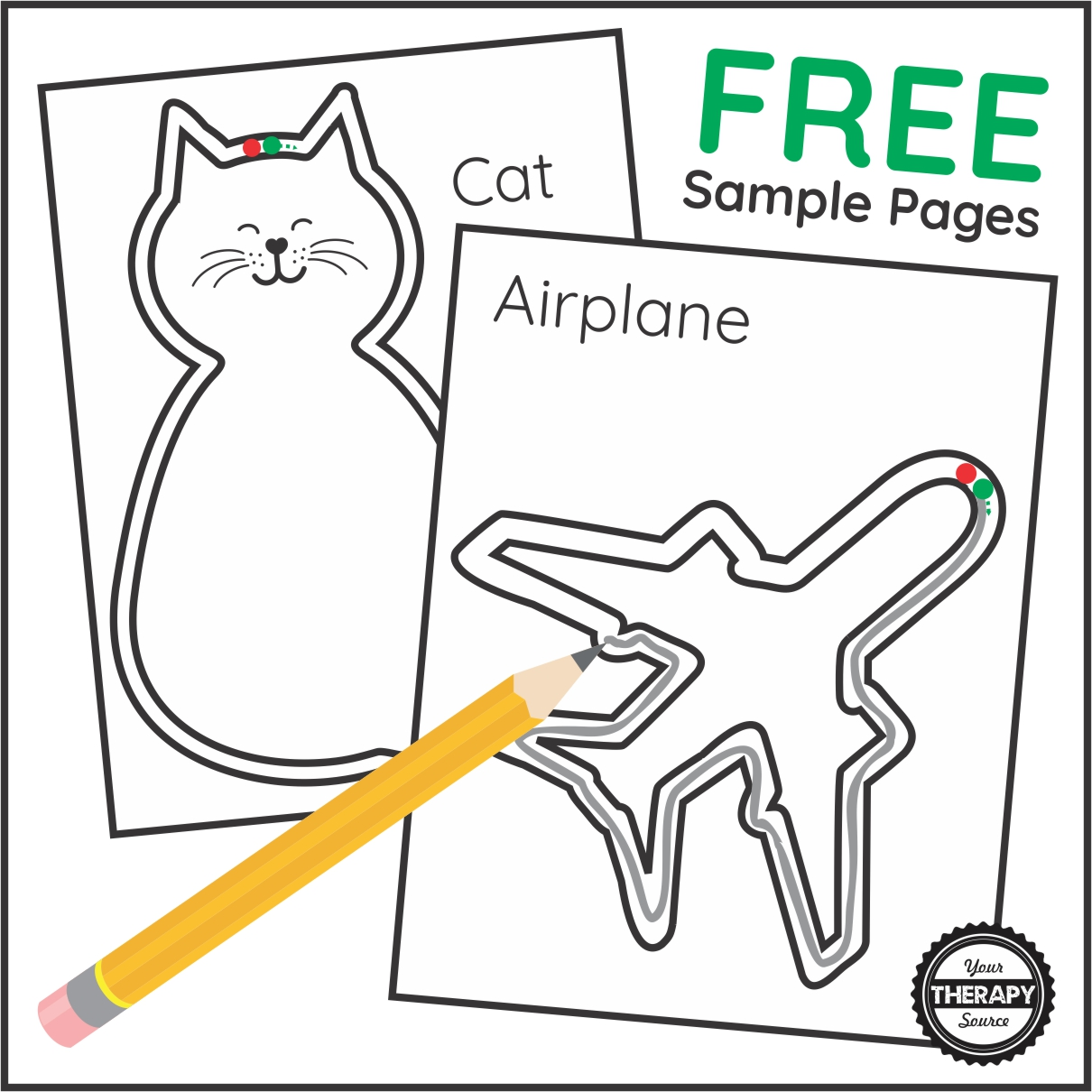 Are you looking for something a little different for students to practice simple visual motor skills?  These two free sample pages from Simple Shape Drawings might be just the activity you are looking for.