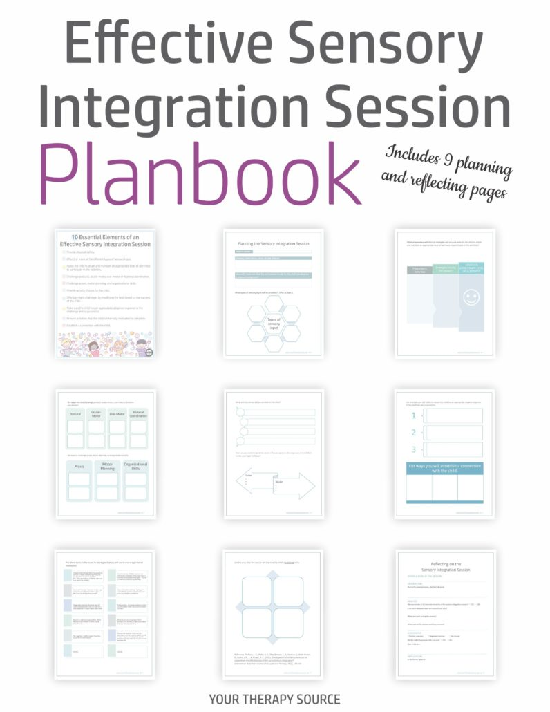 The Effective Sensory Integration Planbook digital document provides step by step guidance to plan and reflect on effective sensory integration sessions.  Whether you are a seasoned pediatric therapist or a beginner, it is important to always be prepared and to reflect on your sensory integration treatment sessions.  This plan book helps guide you through the steps to plan an EFFECTIVE sensory integration session.