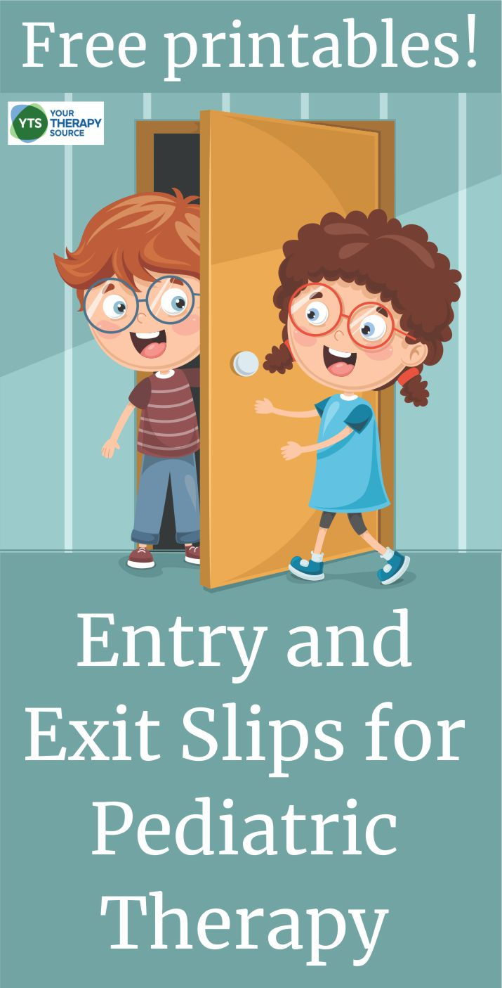 These entry and exit slips for pediatric therapy are FREE for OT, PT, Speech, and Counseling.  It doesn't get any easier than this to review and reinforce what your students are learning.