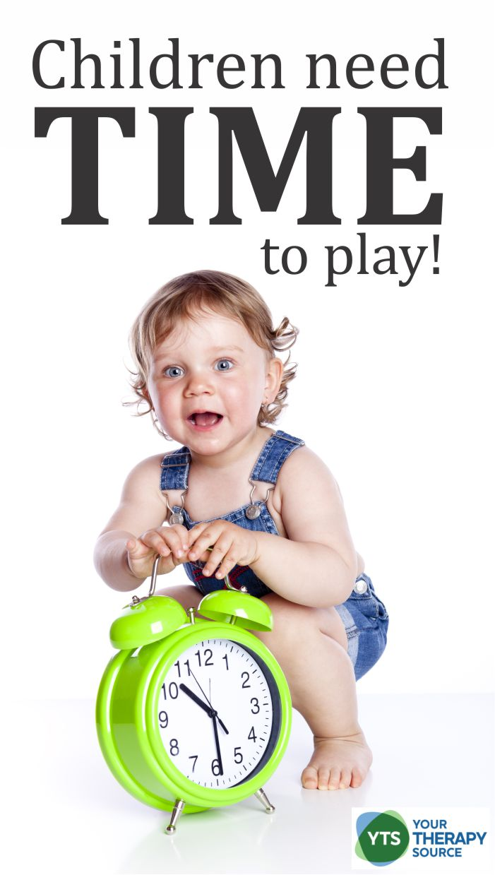 Children need TIME to play - gross motor skill activities to encourage the development of play skills in children