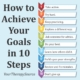 How to achieve your goals in 10 steps from Your Therapy Source
