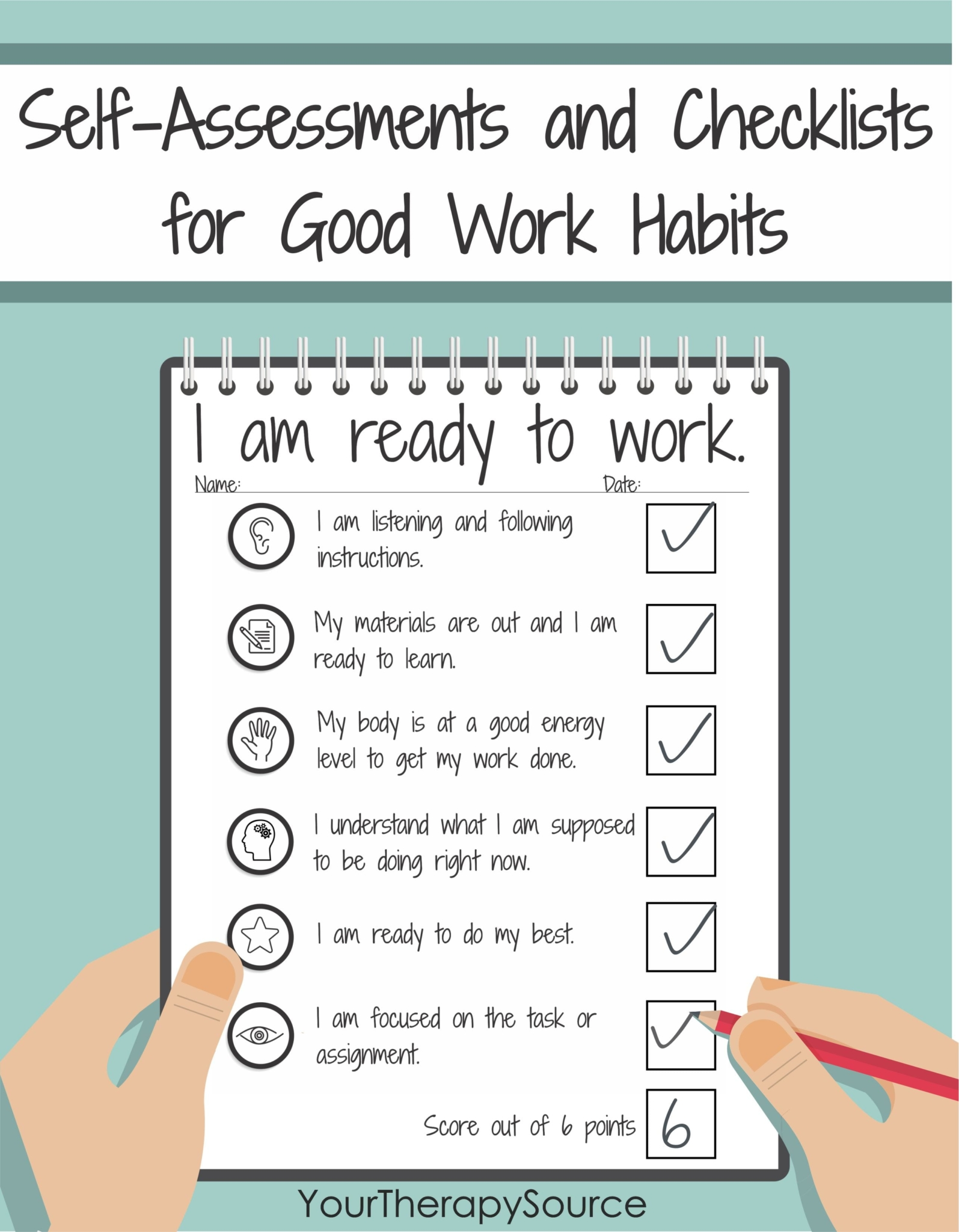 Do you work with students who struggle to be motivated, engaged, persistent, organized, or self-regulate?  These are the skills that students need to achieve success in school.  The Self-Assessments and Checklists for Good Work Habits help improve self-regulation skills, maintain classroom expectations, routines, work habits, and behaviors.