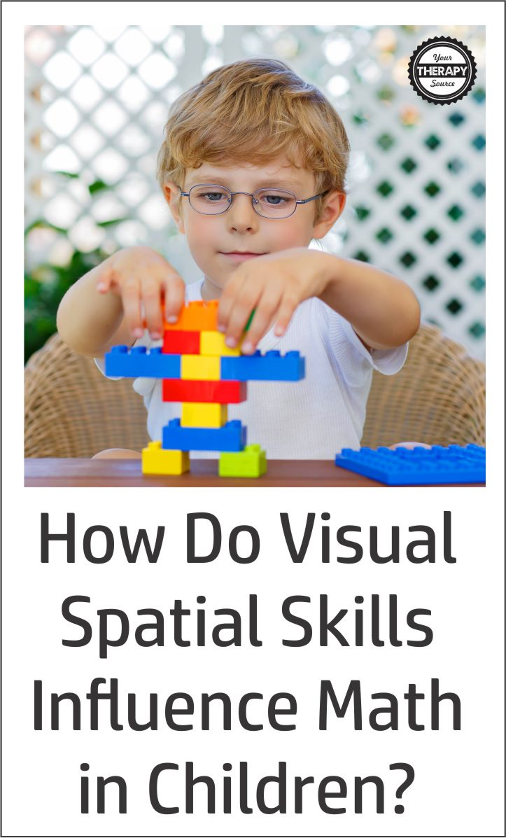 How do Visual-Spatial Skills Influence Math Skills?  Read about the evidence to support how visual-spatial skills predict math abilities in children.