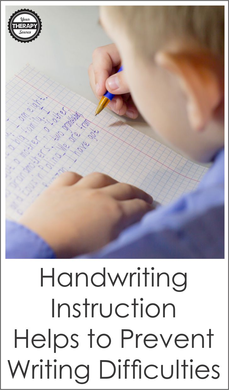 The Journal of Educational Psychology published research on the importance of handwriting for writing.  It is important to provide explicit and supplemental handwriting instruction in order to prevent writing difficulties in the primary grades.