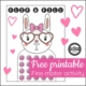 Valentine Game Printable - free bunny fine motor game