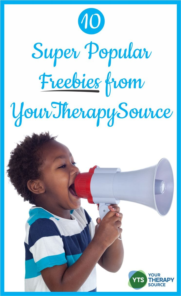 Here are 10 super popular freebies from Your Therapy Source.  Gross motor, fine motor and visual perceptual freebies!  Don't miss out.