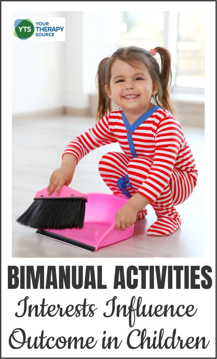 Children with unilateral cerebral palsy spend hours practicing bimanual daily activities to work on using both hands together.  Recent research indicates that the child's interests influence the success of bimanual daily activities.