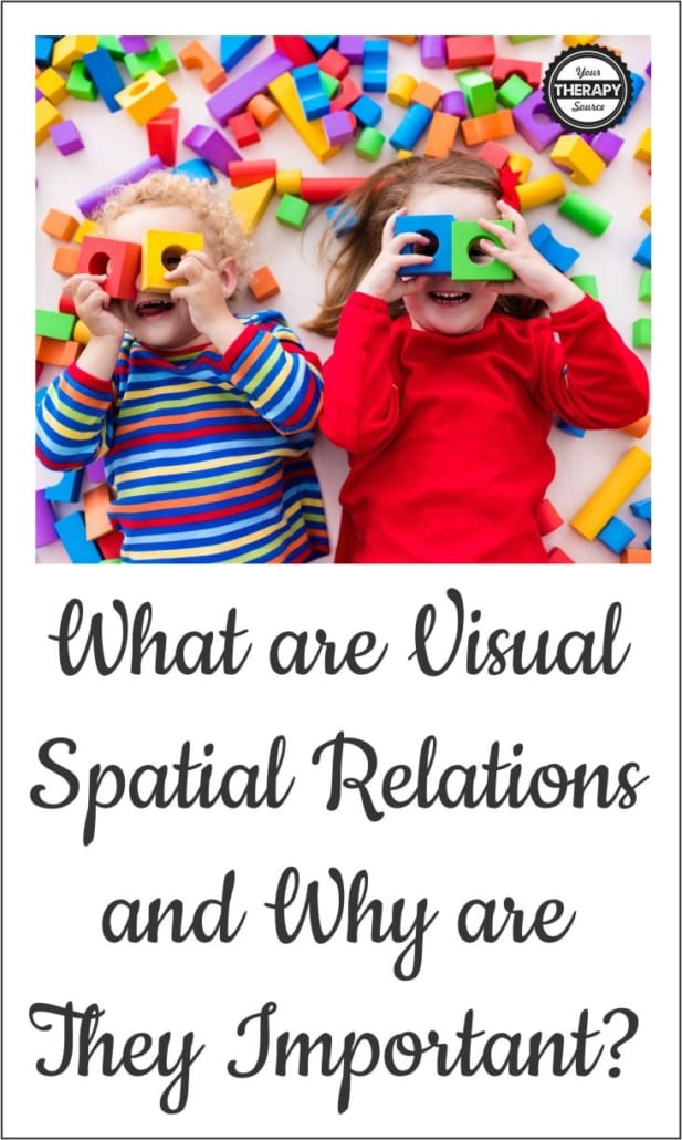 What is spatial awareness? Visual-spatial relations is the ability to visually perceive two or more objects in relation to each other and to yourself.
