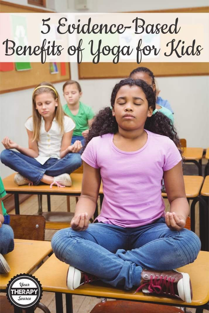Many of us know that there are plenty of benefits of yoga for kids.  But... what does the research say?  Inquiring minds want to know!  Here are 5 evidence-based benefits of yoga for kids.