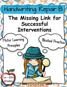 Handwriting Interventions - Occupational Therapy tool for blocked handwriting practice helps you to find the missing link when learning letter forms is not enough.