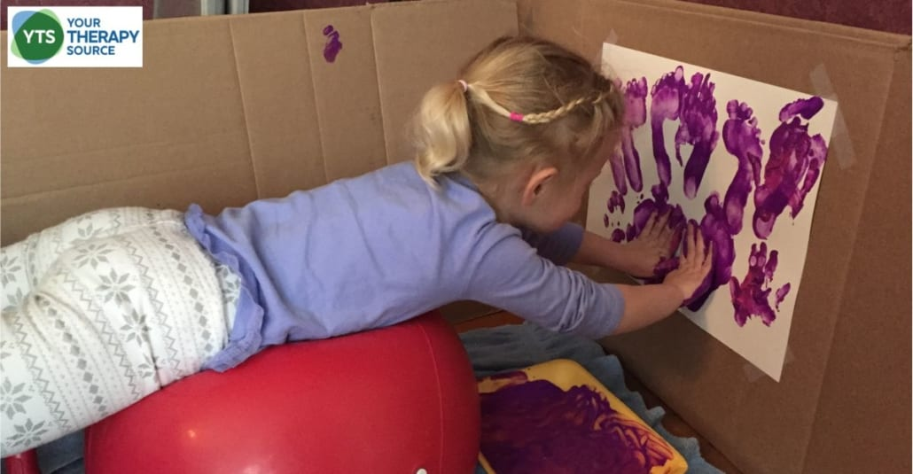 core exercises for children postural painting