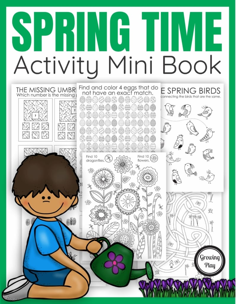 The Spring Activity Book digital download includes puzzles. mazes, and more all with a fun Spring theme. No prep needed – just print and play!