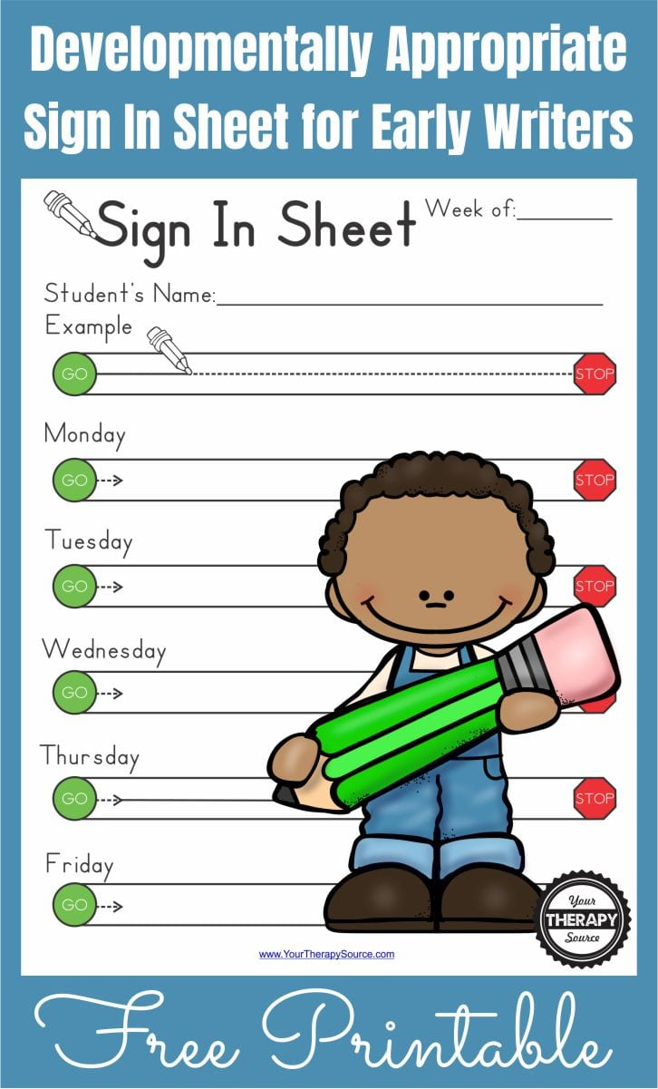 This is a photo of Printable Sign in Sheets pertaining to free printable
