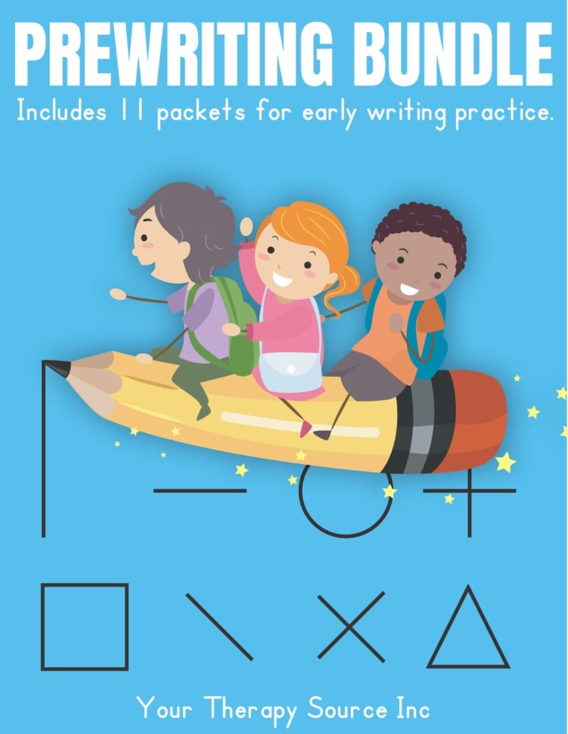 The Prewriting Bundle helps start students on the right path to form good writing habits prior to letter formation or use to practice the skills necessary for legible handwriting.