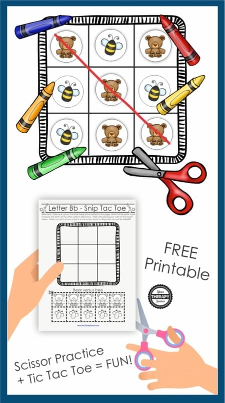 Snip Tac Toe - Color and Cutting Game digital download includes 26 tic tac toe games from A to Z to color and cut. Students can practice fine motor skills, visual motor integration, and scissor skills all while having FUN! It includes three levels of difficulty.