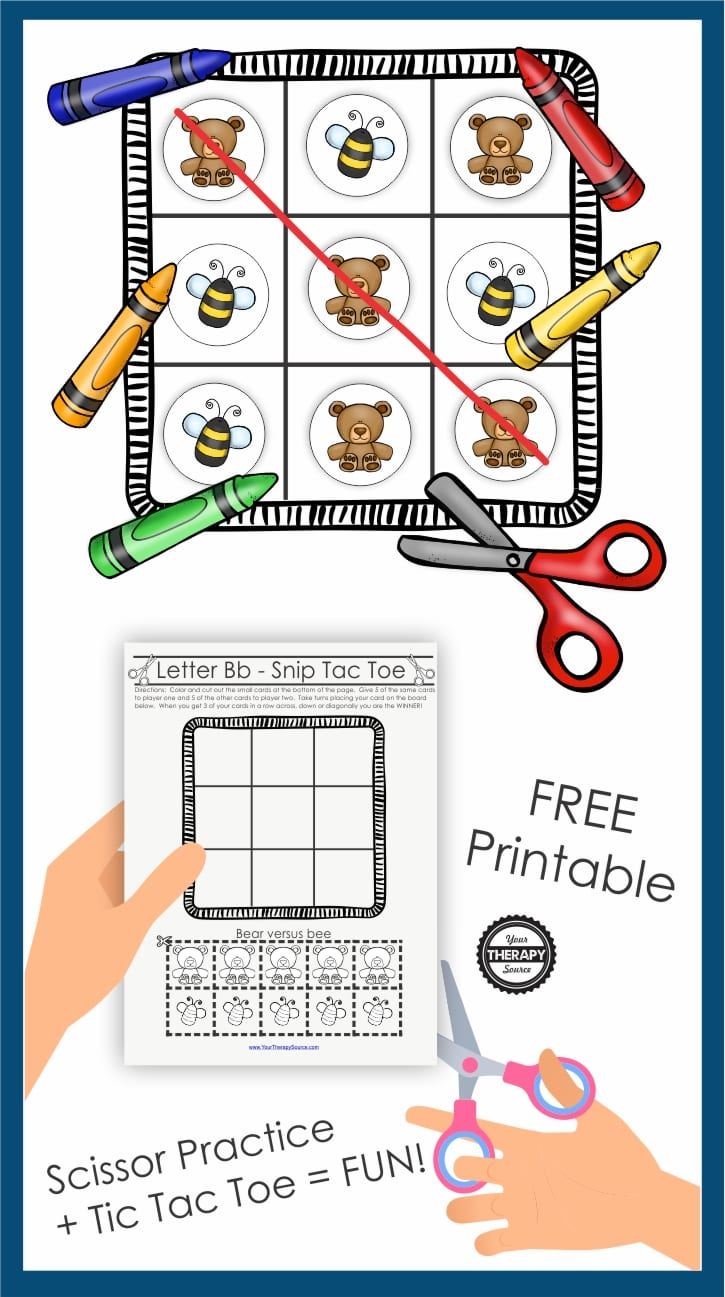 graphic regarding Free Printable Tic Tac Toe Board known as Snip Tac Toe - Colour and Reducing Recreation