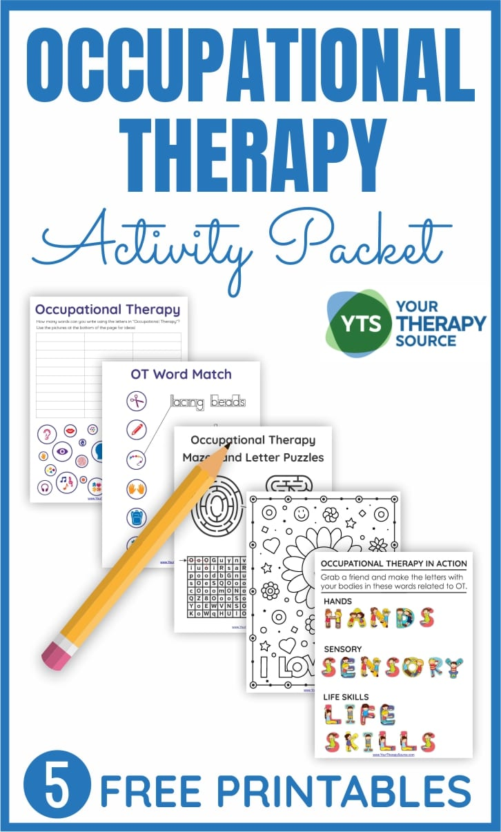 To celebrate OT month (or to celebrate Occupational Therapy any time of year) we have a great FREE Occupational Therapy activity packet for you to download!