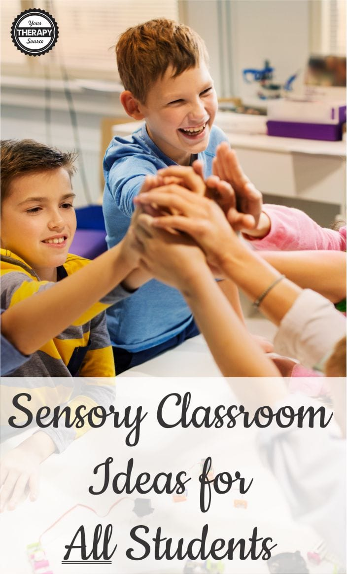 In general, when students have the proper sensory input, their body and mind are ready to learn.  Here are ways to embed sensory classroom ideas for ALL Students throughout the day.