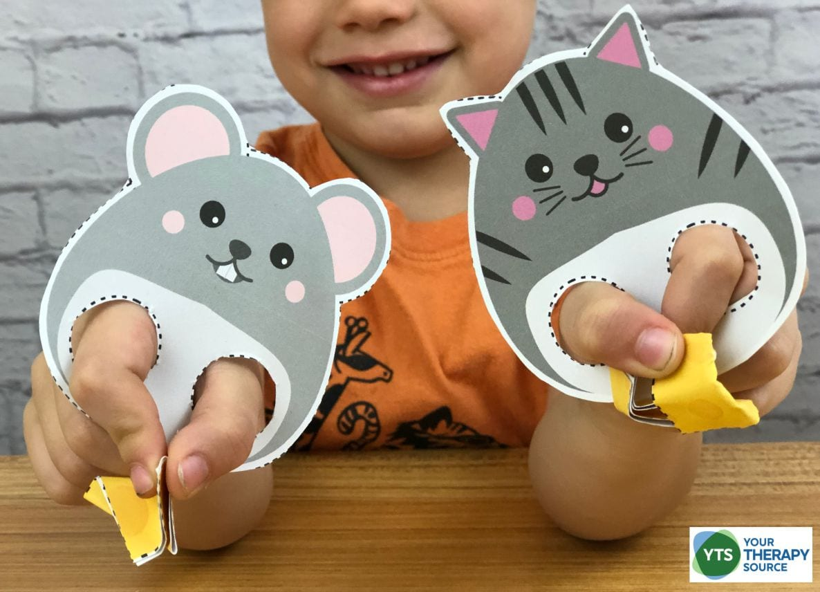 This fine motor skills game, Eat the Cheese, is super adorable and fun to get little fingers ready to pick up small objects. You can download it for free at the end of this post!