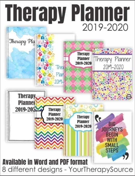 School-Based Therapy Planner 2019-2020