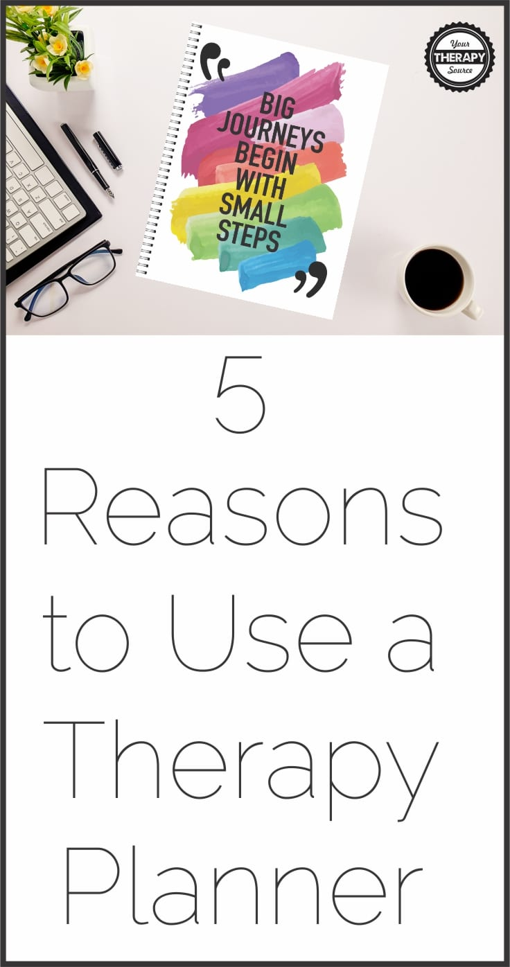5 Reasons to use a therapy planner - if you are a school based therapist staying organized and being prepared are one of the keys to success.