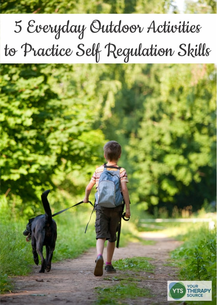 Here are 5 everyday outdoor activities to practice self-regulation skills in children to help them learn how to practice self control.