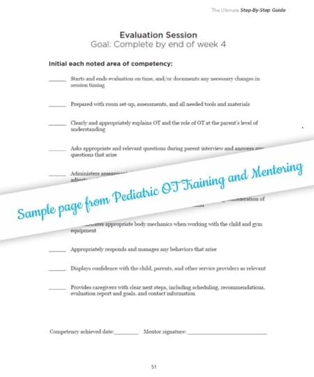 This Pediatric Occupational Therapy Training and Mentoring Step By Step Guide will help you expand your leadership skills, develop a new professional role, and make an impact on the future of the field.