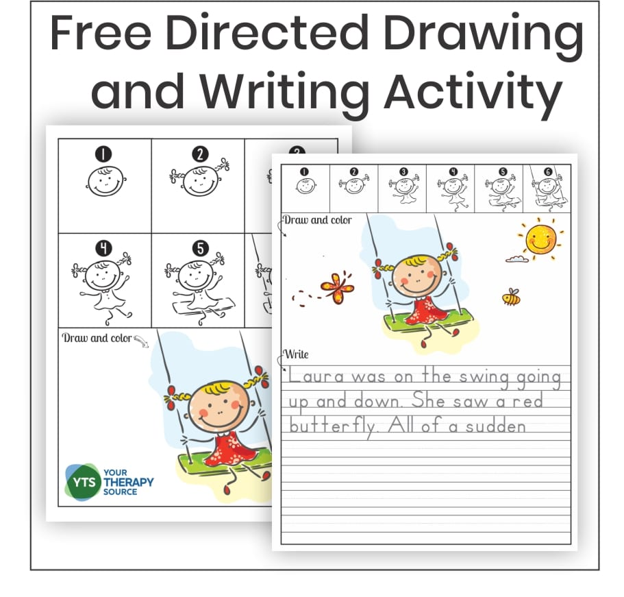 Do you like to draw?  Or maybe you want to learn how to become better at drawing.  Step by step drawing activities are a wonderful idea to help children (and adults) learn how to draw.  Children can practice their skills and gain confidence with these types of lessons.  This FREE directed drawing and writing activity can be downloaded at the end of the post.