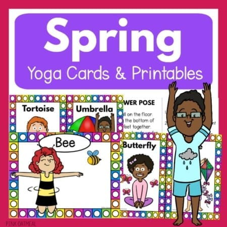 Yoga for Every Season includes four PDF digital documents for Winter Yoga, Spring Yoga, Summer Yoga, and Fall Yoga for children.