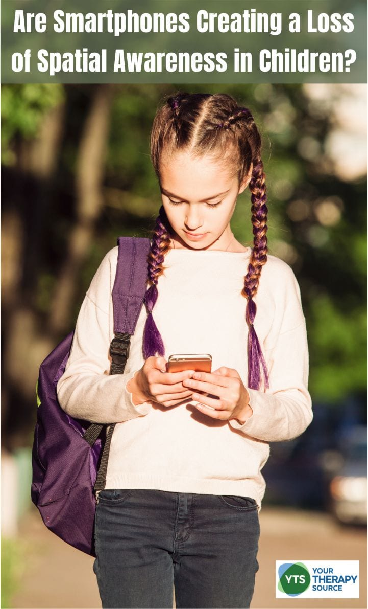 Have you seen children who bump into their peers? Maybe they have trouble determining their left from their right? Perhaps you ask them to walk somewhere and they are completely unfamiliar with how to get there even though they have been there many times before? More and more children are using smartphones for longer hours and at a younger age. Overuse of technology in children has been associated with many negative factors such as decreased physical activity, decreased social skills, and poor sleep quality. Is it possible that smartphones are creating a loss of spatial awareness in children?