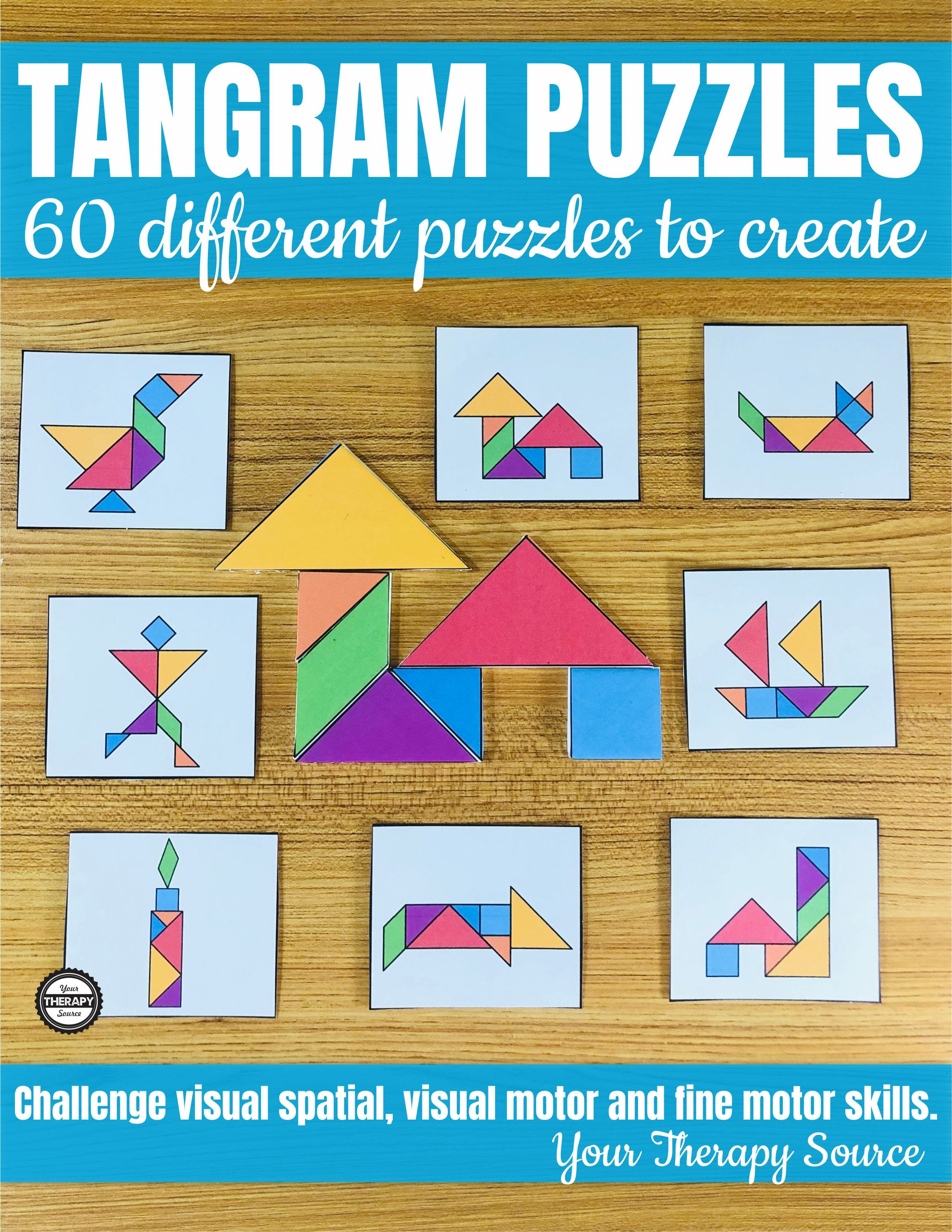 photo regarding Tangram Puzzles Printable identified as Tangram Printable Puzzles
