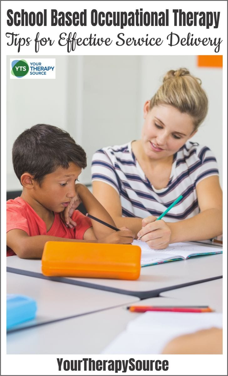 Do you work with students who you refer to school based occupational therapy? When students struggle with fine motor skills, self-regulation, sensory processing, handwriting, organization, or other activities of daily living, they may need extra support to function in the educational environment.