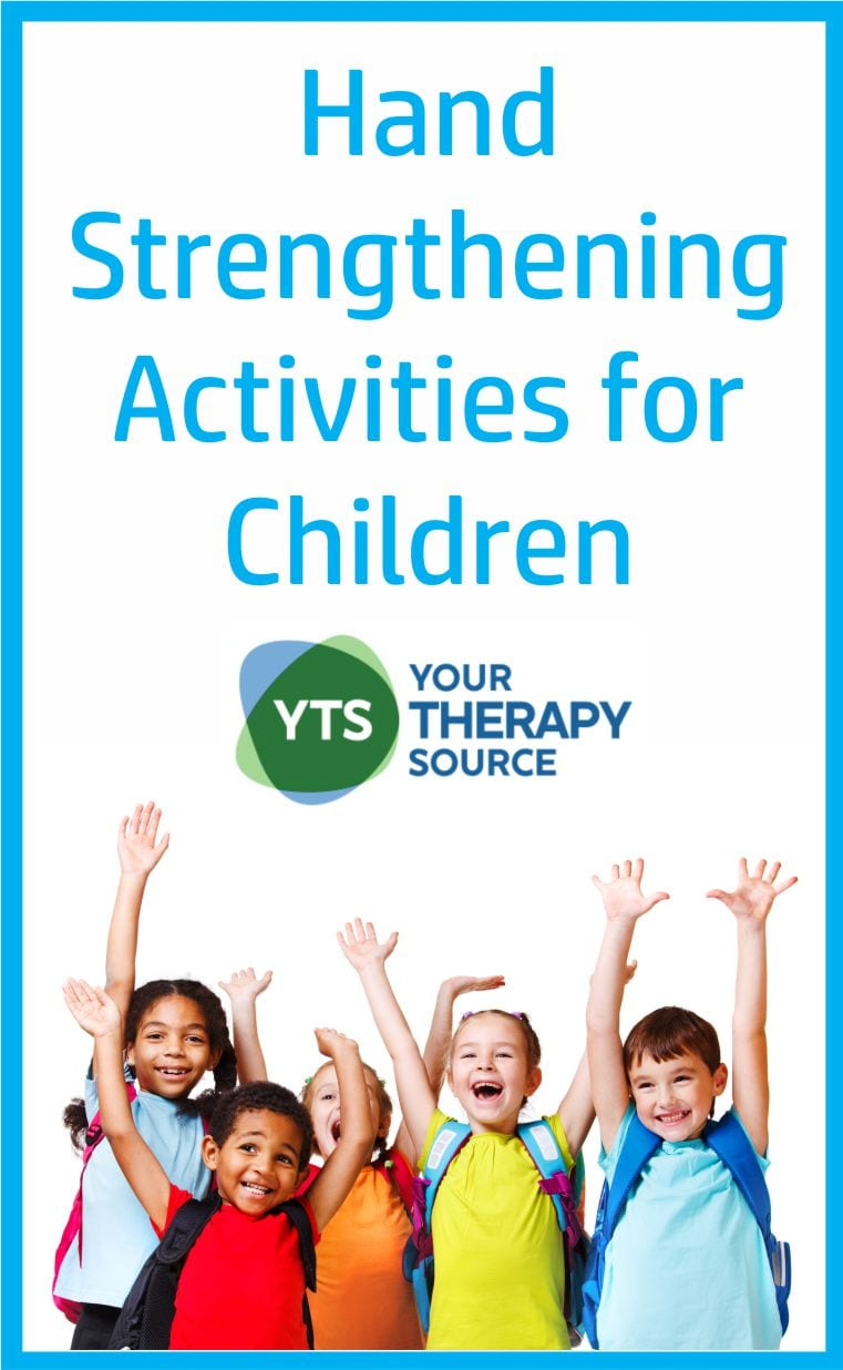 Here are 10+ hand strengthening activities for children using games and everyday activities from Your Therapy Source. Free downloads!