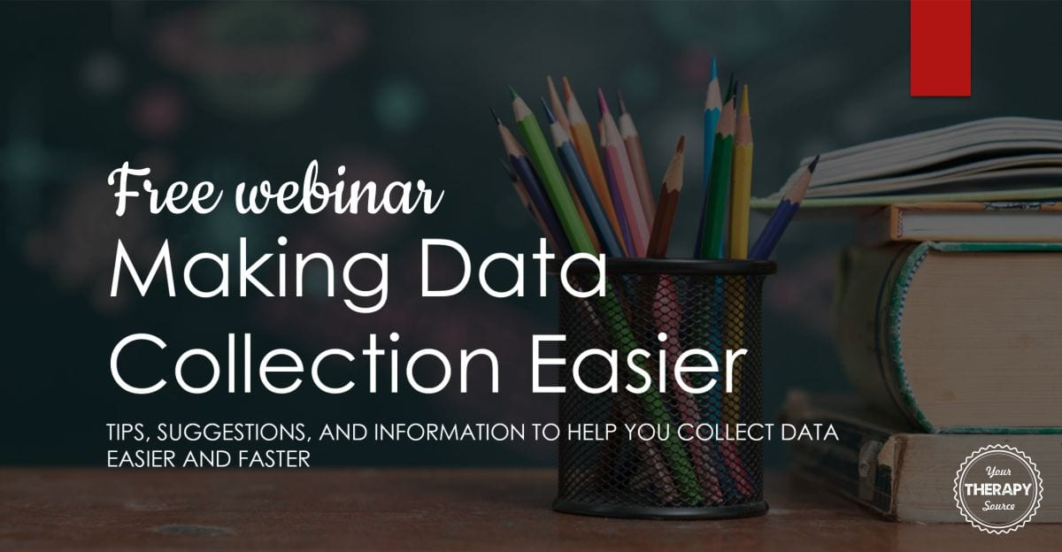 """Join the """"party"""" and watch this informative FREE webinar on data collection in schools, Making Data Collection Easier from Your Therapy Source."""