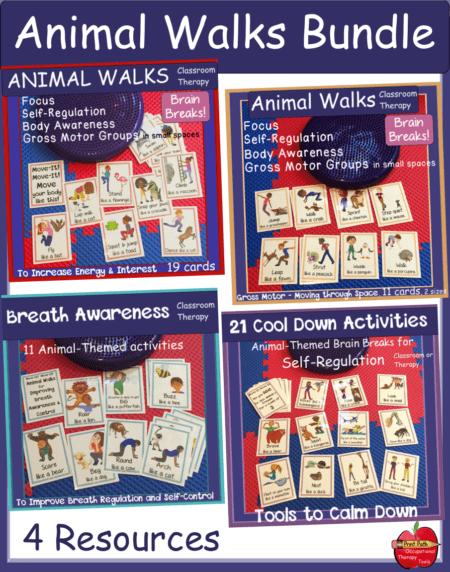 The Animal Walks Bundle are no-prep calming tools that encourage self-regulation, exercise and deep breathing to help students succeed in the classroom!