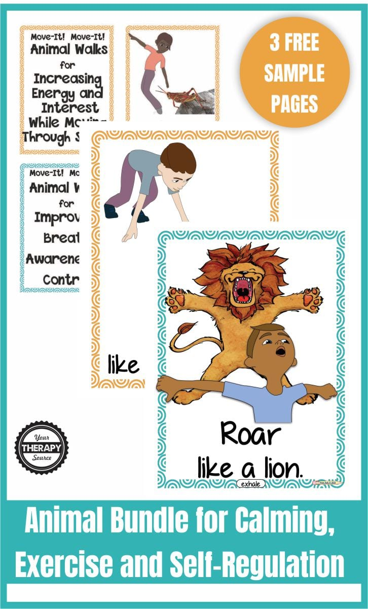 If you need a quick and simple brain break activity that encourage movement and self-regulation, check out these animal exercises for kids!