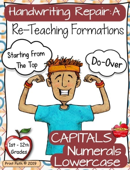 Dysgraphia Handwriting Intervention - Occupational Therapy Tools A: Formations digital download is a systematic, structured, efficient, & effective method to re-teach letter and number formation skills