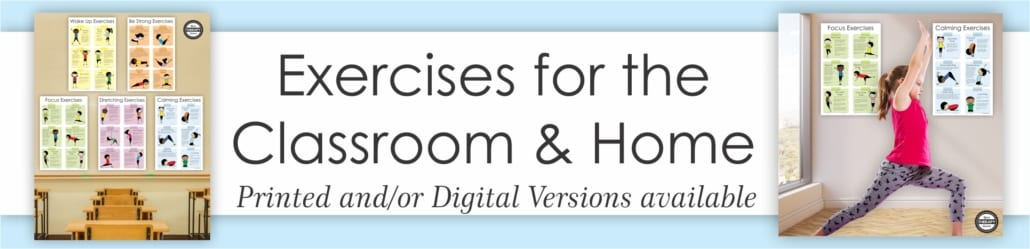 Kids Exercise List For The Classroom Or Home Your Therapy Source