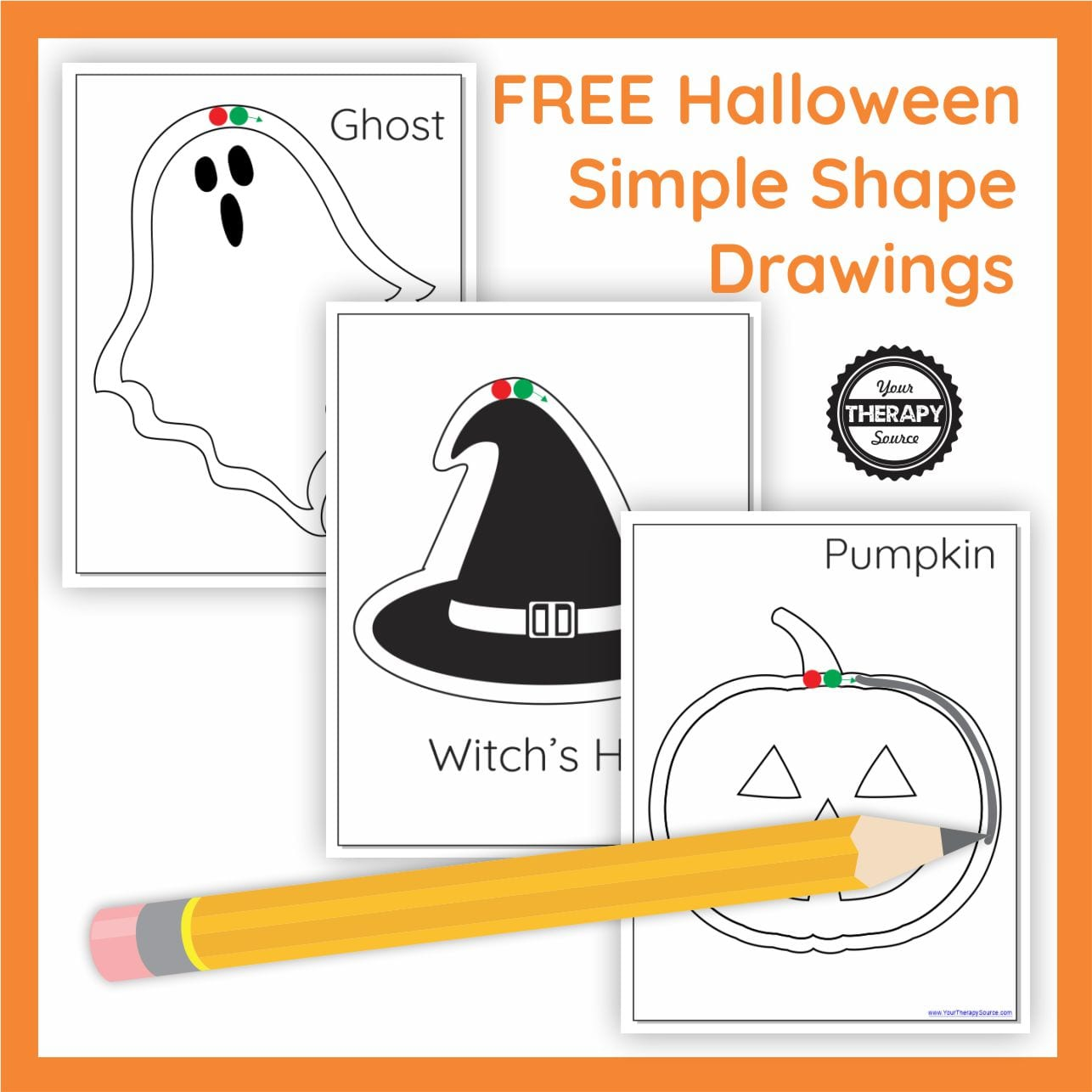 Pre-writing skills can get boring and this free Halloween Shape Drawings 3 page PDF printable can jazz up everyday pre-writing practice during the month of October.