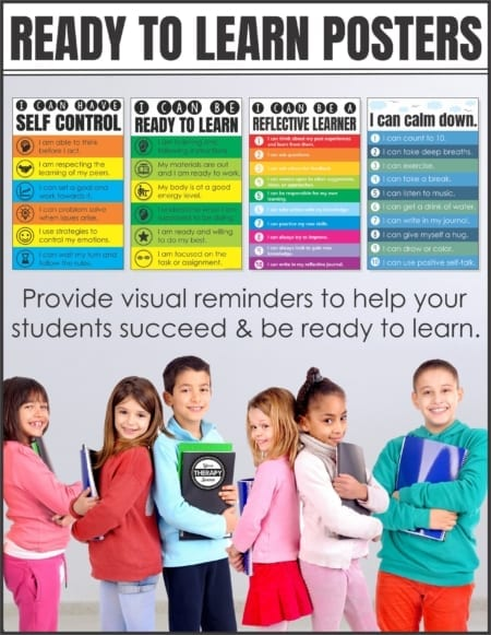This set of I Can Posters includes 4 posters to provide visual reminders to help your students succeed and be ready to learn.