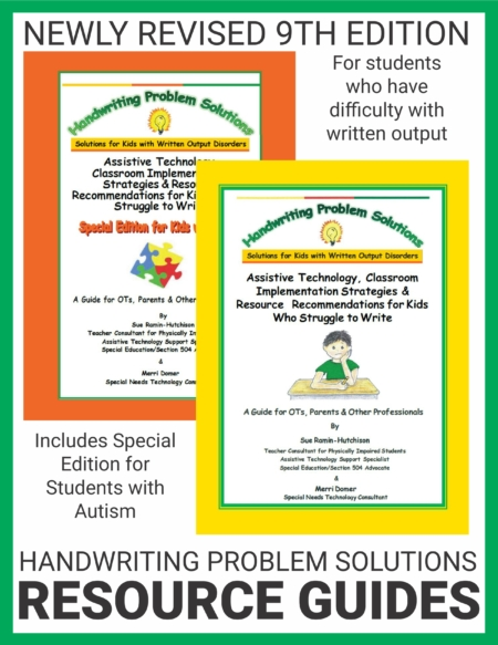 This bundle includes both Handwriting Problem Solutions Resource Guides. These digital download is a resource guide for parents and professionals working with students with educationally significant handwriting challenges that make it difficult/impossible for them to complete written schoolwork with paper and pencil.