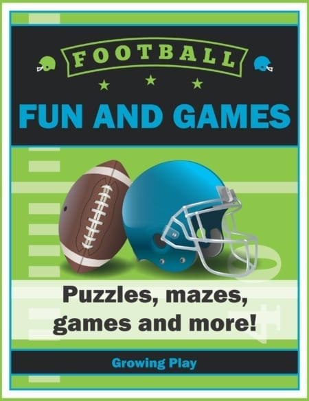 The Football Puzzles Fun and Games digital download includes 15 SUPER FUN activities to entertain the kids all related to FOOTBALL!  This is a perfect packet to keep the kids busy while you watch football games or anytime!