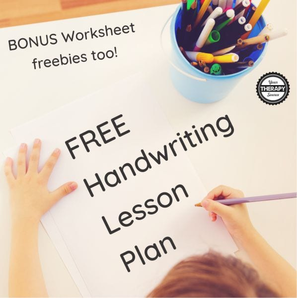 Here is a fun, multi-sensory FREE handwriting lesson plan and some worksheet sample pages that you can download from the My Mighty Hands.