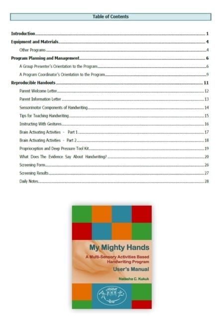 User Manual Table of Contents My Mighty Hands