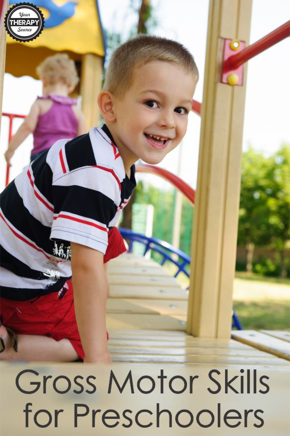 In order to meet the 2 hour recommendation for physical activity, gross motor skills for preschoolers should be encouraged throughout the day.