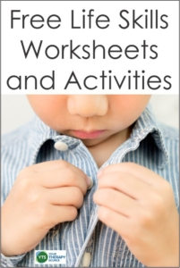 Free Life Skills Worksheets Forms and Ideas - Your Therapy ...
