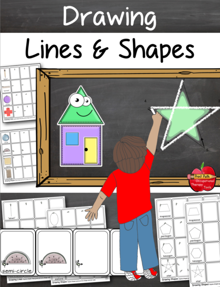 How to Draw Lines and Shapes digital download was created by school-based Occupational Therapist, Thia Triggs.  She has found that after many years of teaching children early drawing, pre-writing and handwriting, that there is a particular foolproof order of instruction.