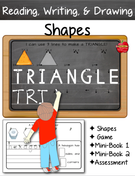 This SHAPES: Read Write Draw and Analyze digital document includes fun methods for supporting early geometry standards while boosting your student's confidence and joy of drawing and writing.