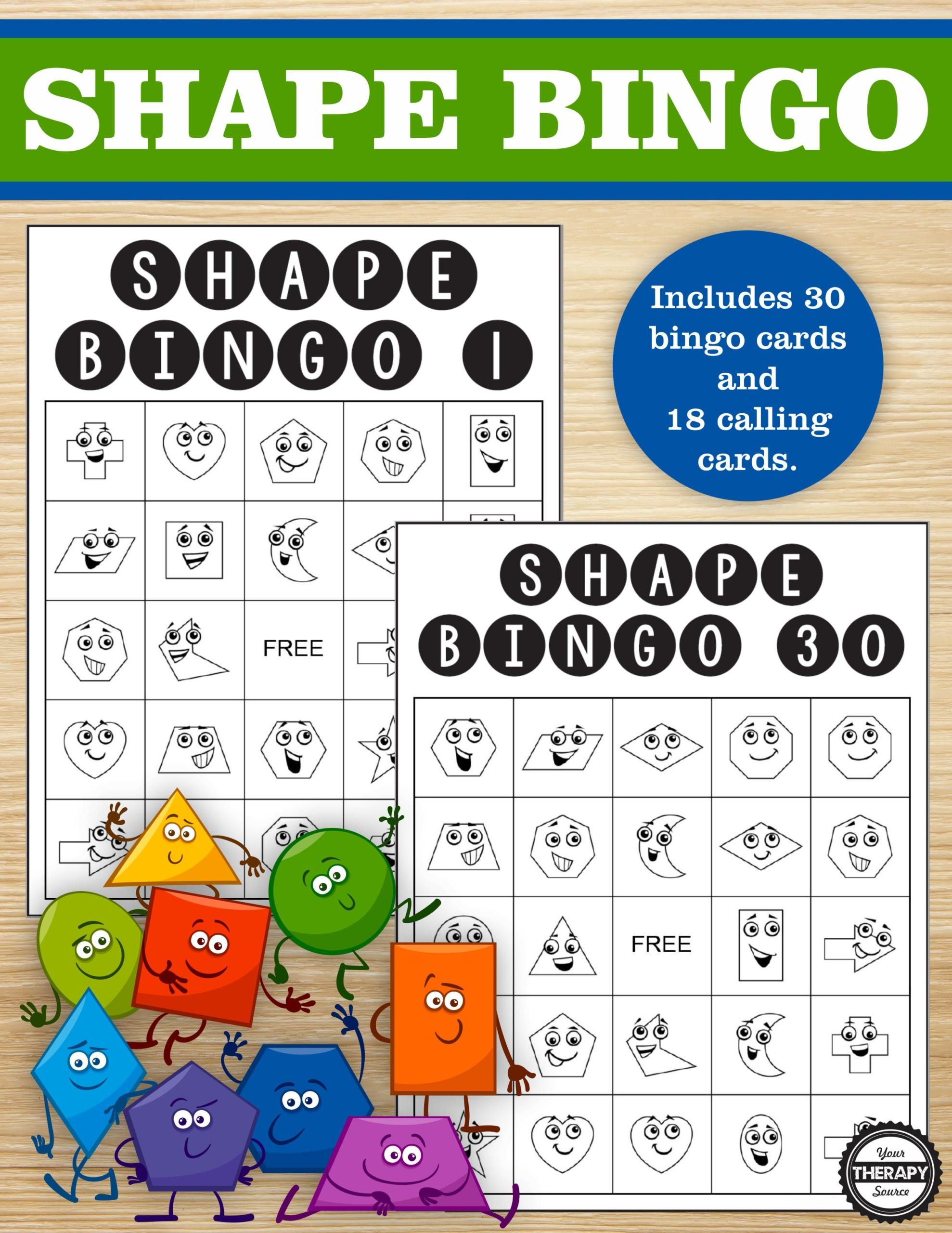 Shape Bingo Your Therapy Source