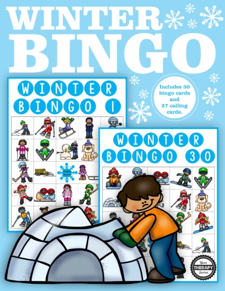 This Winter Bingo classroom set is a digital download that includes 27 calling cards and 30 Winter Bingo boards in color. Fun for a crowd and easy to play.